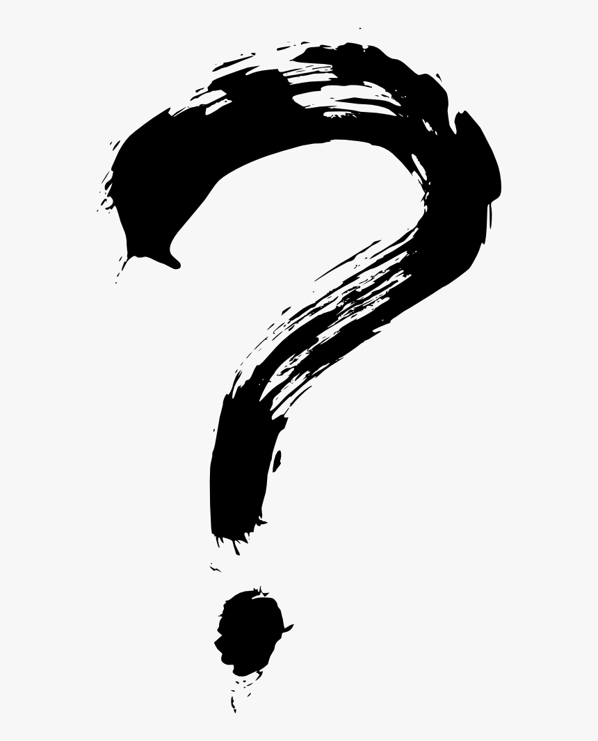 Brush Stroke Question Mark Png Transparent Png Transparent Png