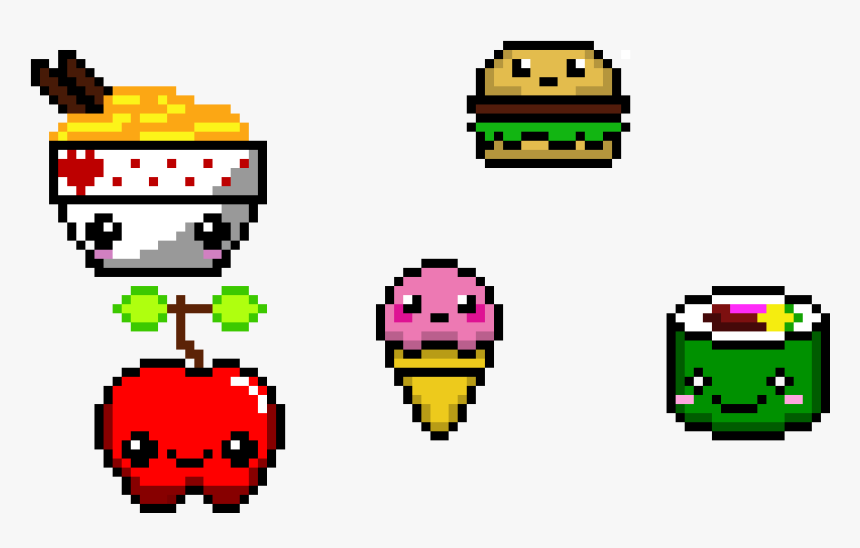 Kawaii Maker Kawaii Food Pixel Art Kawaii Hd Png Download