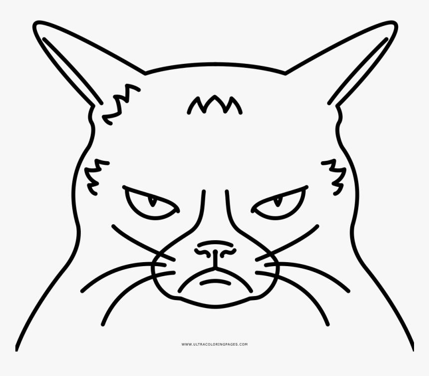 Grumpy Cat Coloring Page Free Grumpy Cat Coloring Pages Hd Png Download Transparent Png Image Pngitem