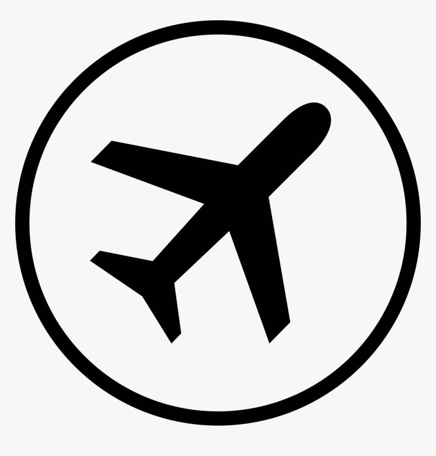 circle airplane icon png