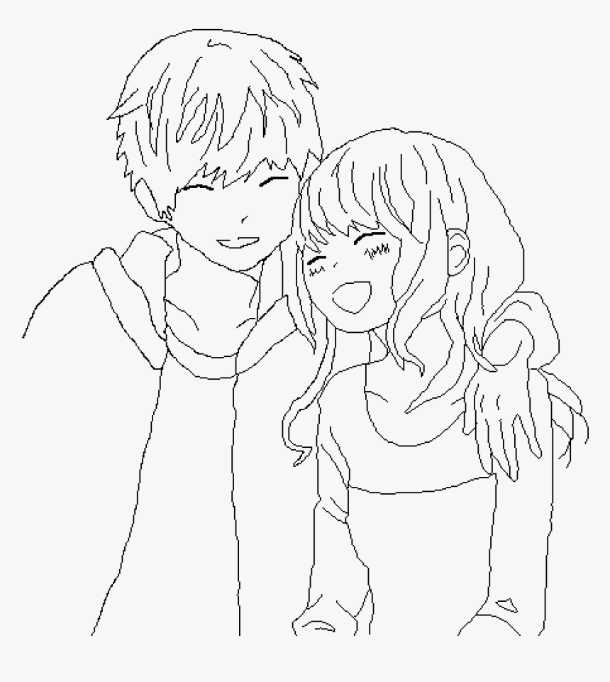 Anime Couple Base Anime Couple Drawing Bases Hd Png Download Transparent Png Image Pngitem