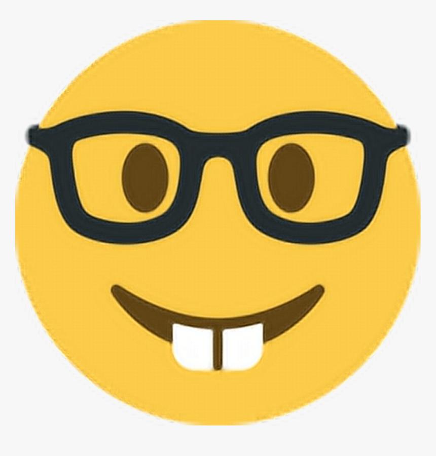 Smart Nerd Geek Dork Teeth Glasses Spectacles Emoji - Nerd ...