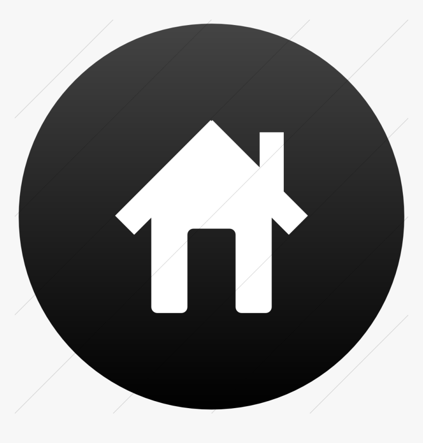 Black Home Icon 13 Black And White Home Icon Images House Icon Black Circle Hd Png Download Transparent Png Image Pngitem