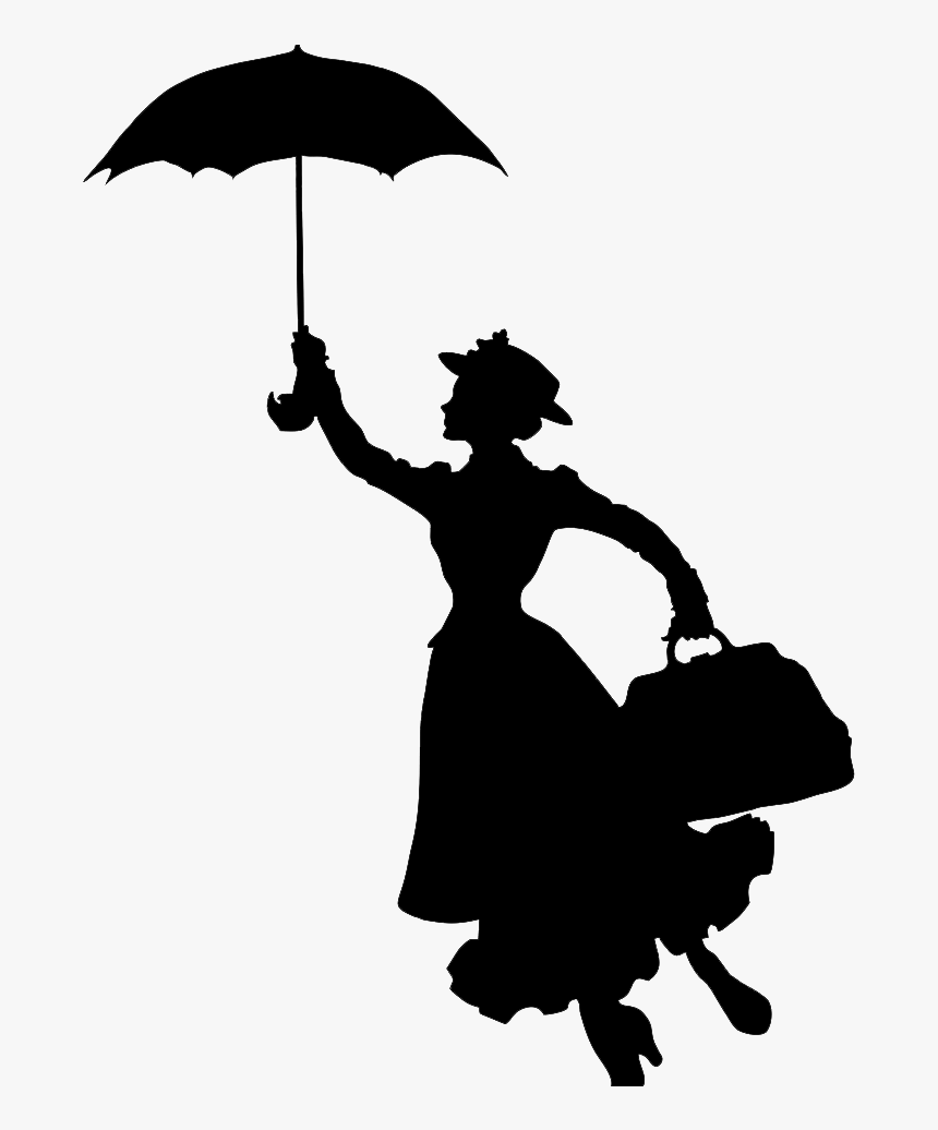 Disney Mary Poppins Silhouette, HD Png Download , Transparent Png Image -  PNGitem