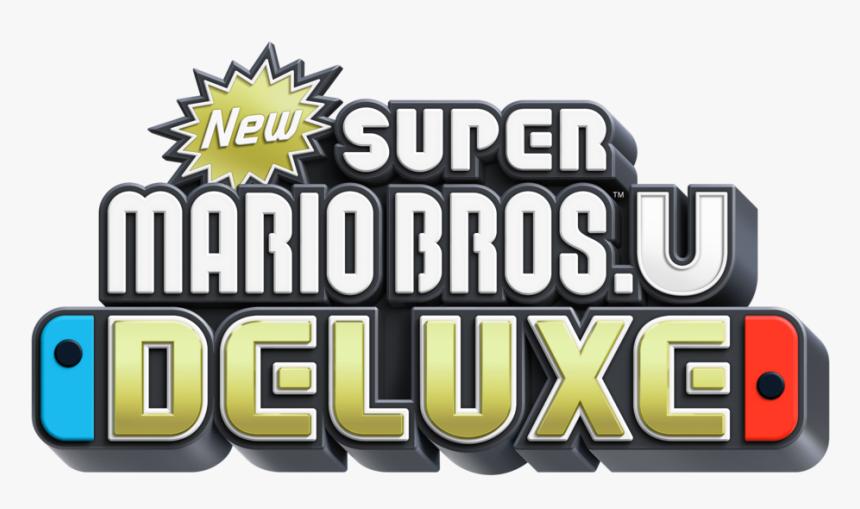 New Super Mario Bros U Deluxe Logo Hd Png Download Transparent