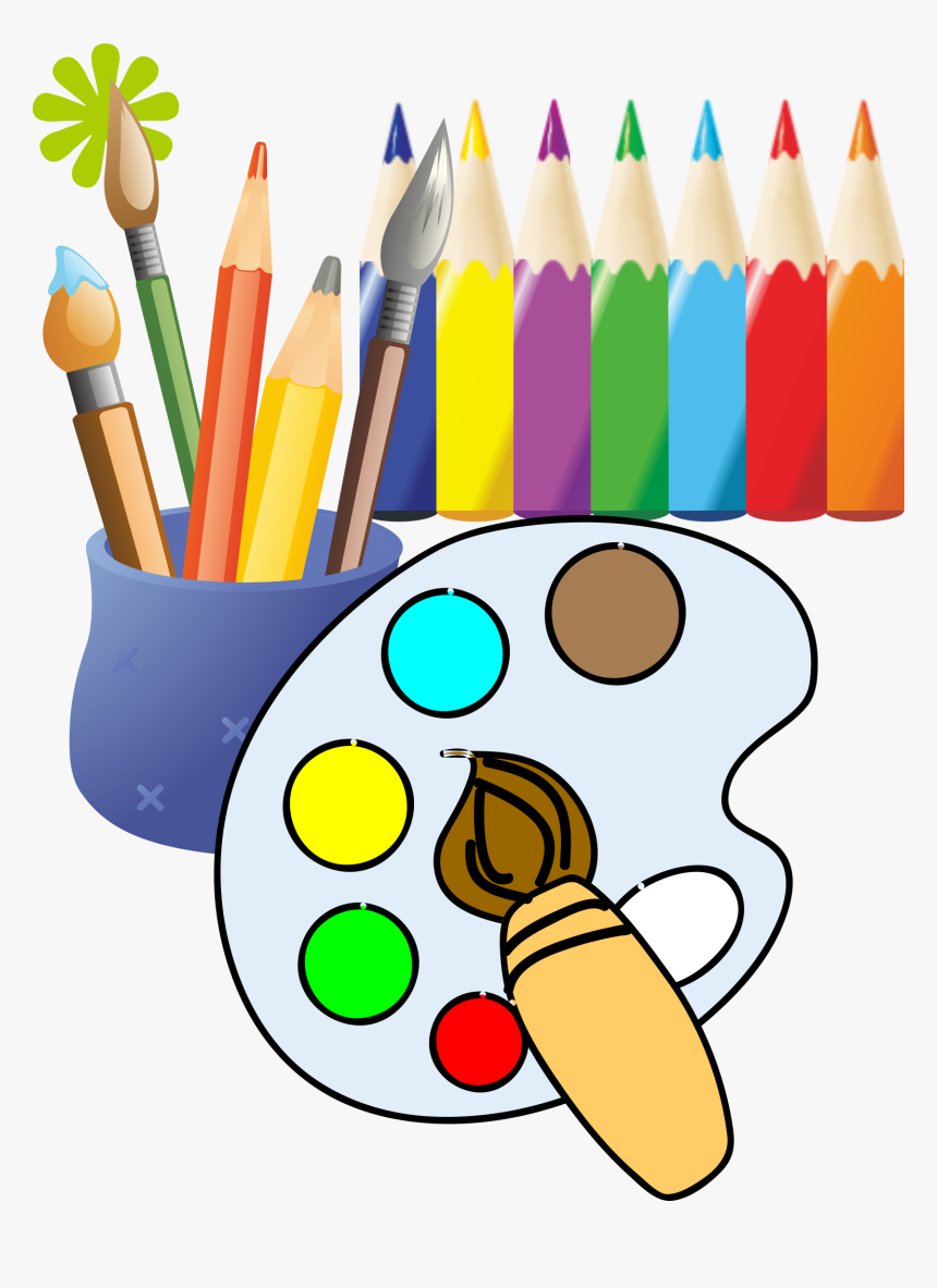 Paintbrush Painting Drawing Clip Art - Painting And Drawing Clipart, HD Png  Download , Transparent Png Image - PNGitem