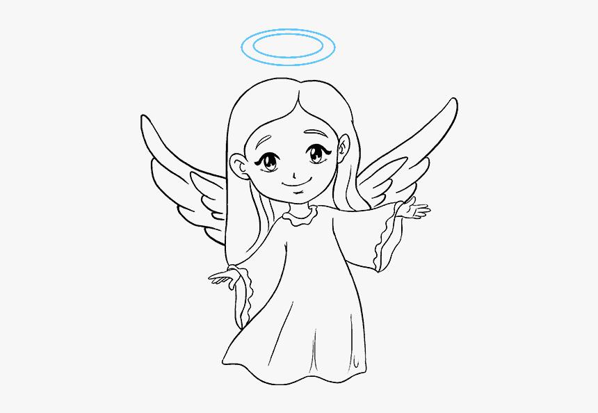 Angel Outline Drawing Simple Easy Angel Drawing Hd Png Download Transparent Png Image Pngitem