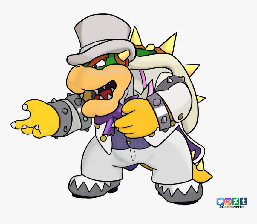 Browser Drawing Mario Bowser Transparent Png Clipart Super