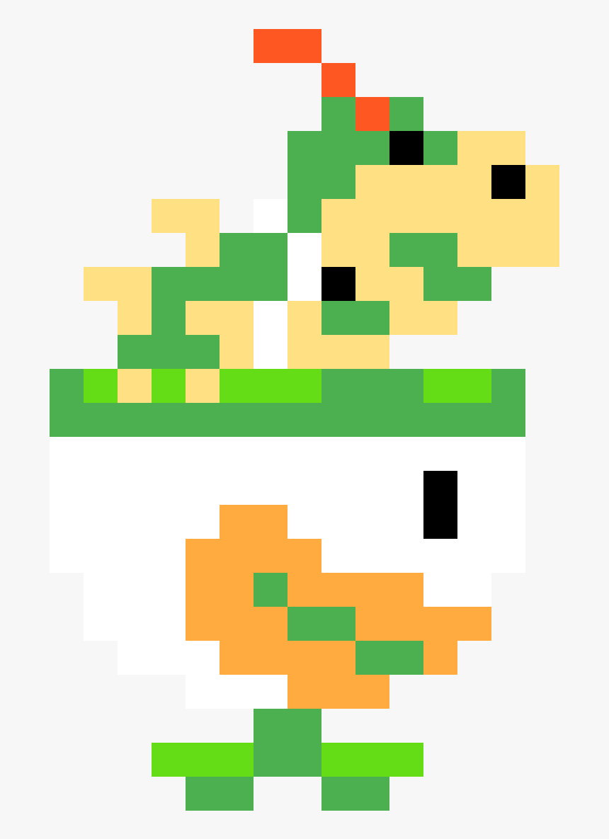 Bowser Jr Pixel Art Hd Png Download Transparent Png Image