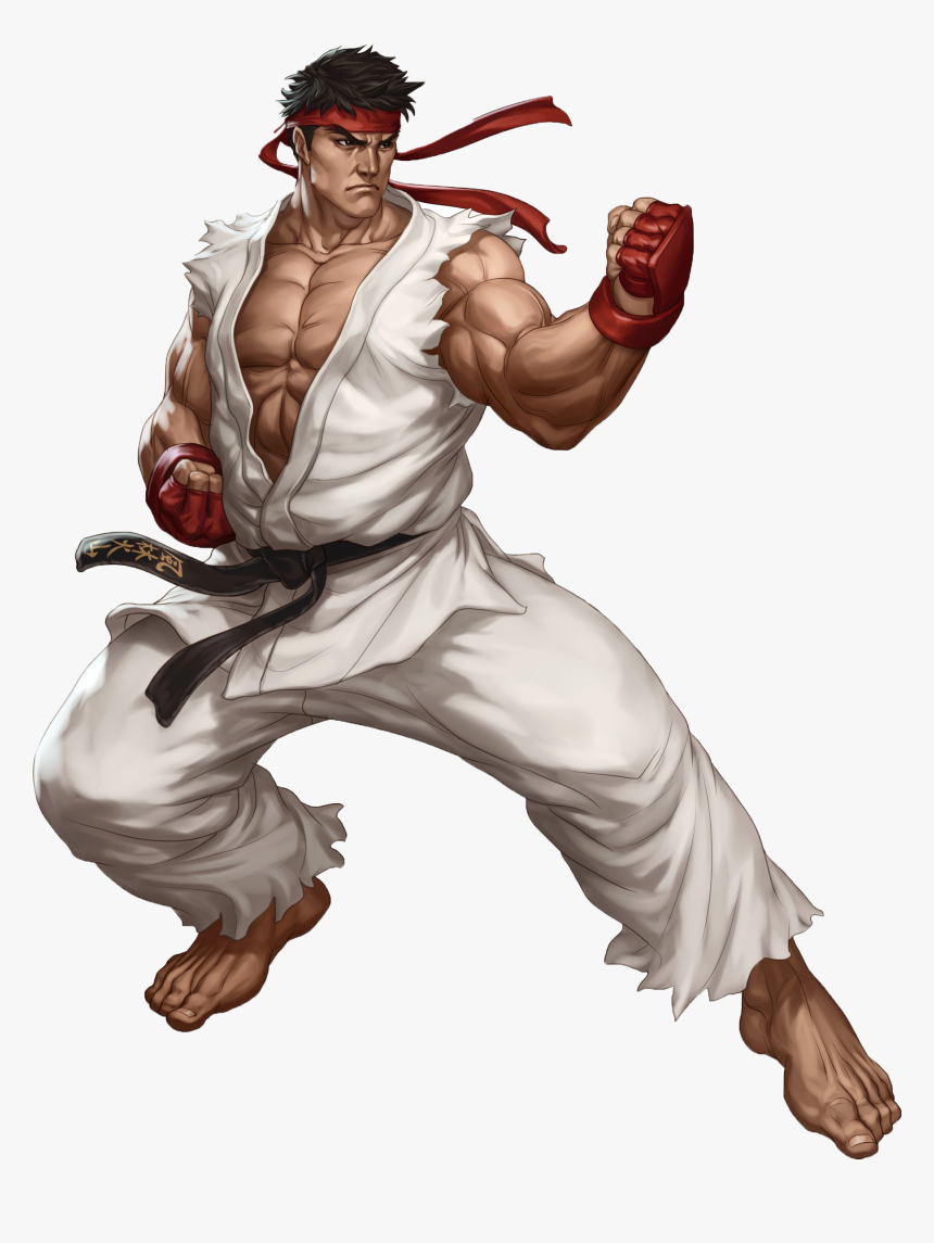 Ryurender Ryu Street Fighter Characters Hd Png Download