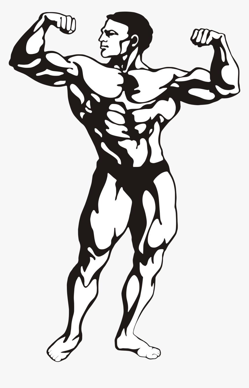 Fitness Man Clip Arts Body Building Clip Art Hd Png Download Transparent Png Image Pngitem