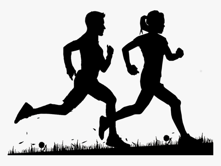 Silhouette Cross Country Running, HD Png Download , Transparent Png Image - PNGitem