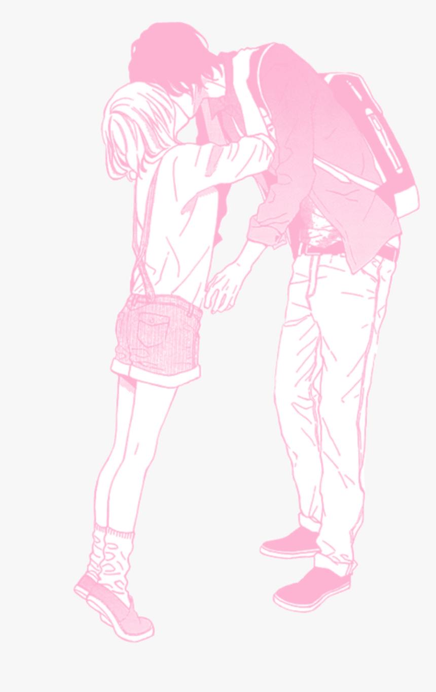 Pink Pastel Manga Anime Couple Love Anime Couple Transparent Background Hd Png Download Transparent Png Image Pngitem