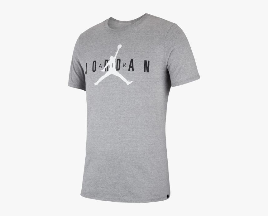 Air Jordan Shirt Grey, HD Png Download
