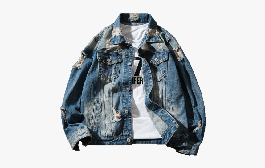 Ripped Hole Png Vintage Denim Jacket Ripped Mens Transparent Png Transparent Png Image Pngitem
