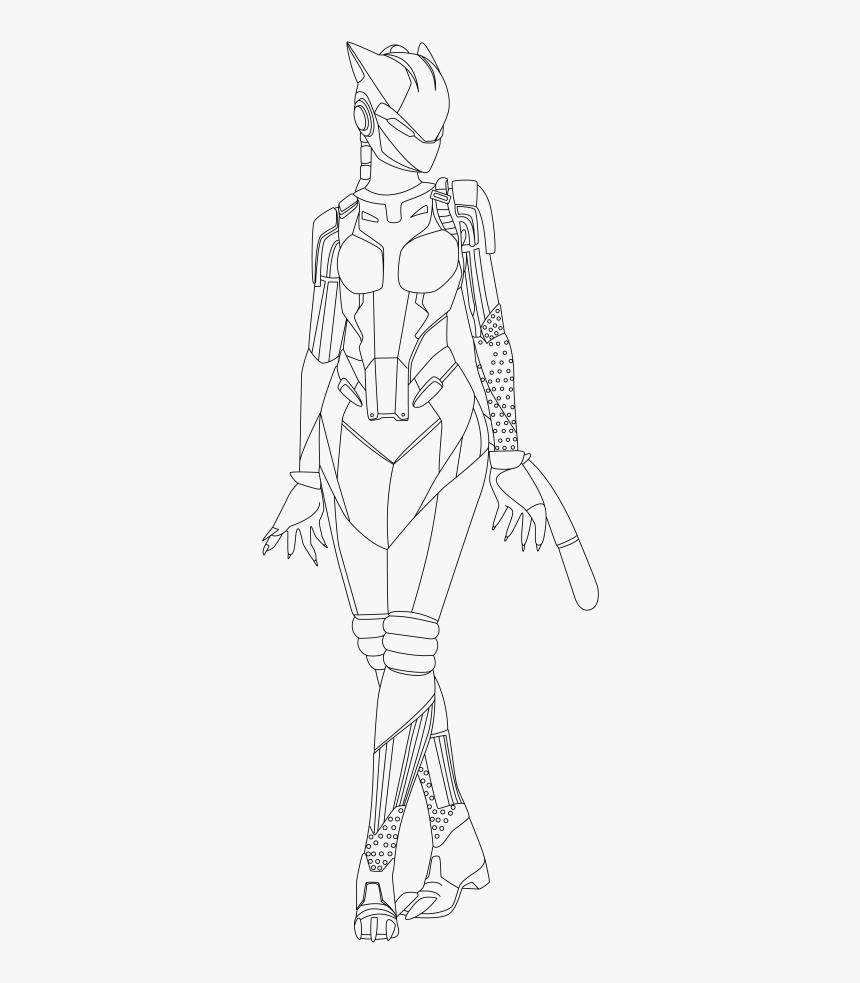 - Ninja Fortnite Coloring Page Lynx Skin Fortnite Coloring
