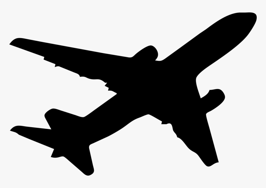 Transparent Jet Clipart Black And White Plane Silhouette Png