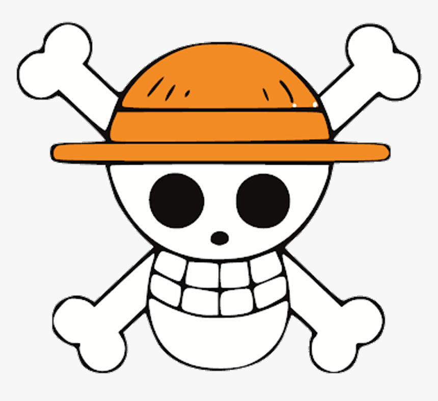luffy face roblox Onepiece Luffy Anime Pirate Pirata Logo Skull Caveira Custom Jolly Roger One Piece Hd Png Download Transparent Png Image Pngitem