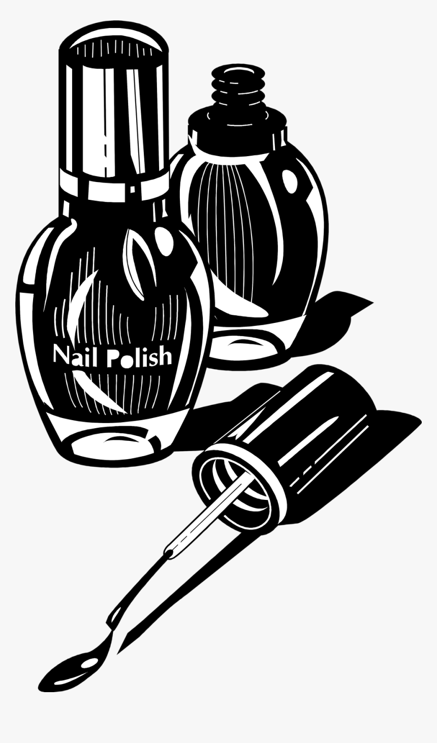 nail polish clipart black and white nail art logo png transparent png transparent png image pngitem nail polish clipart black and white