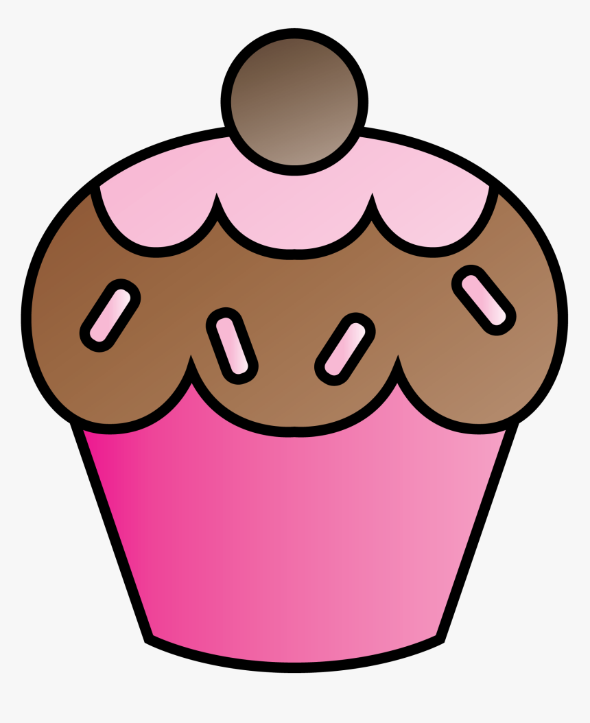 Cupcake Art Clip Art Cupcake And Pink Cupcakes Sketsa
