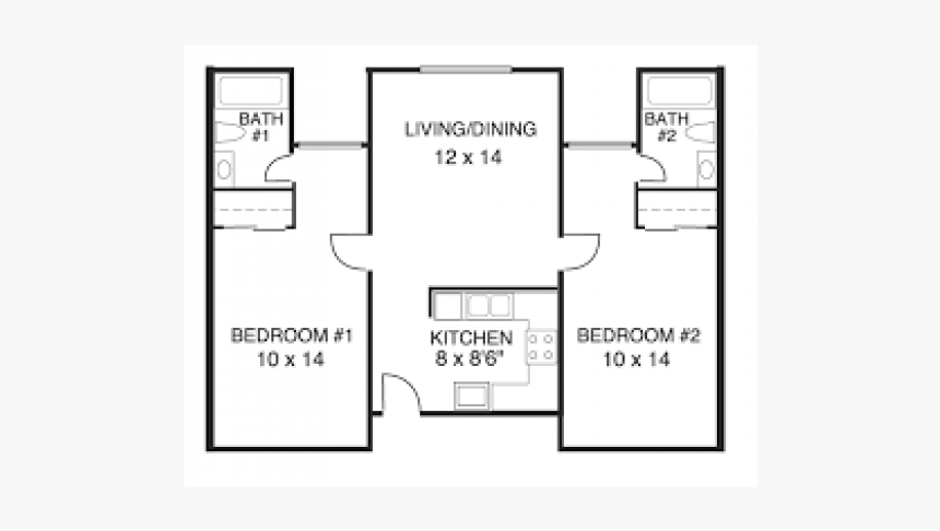 Studio 1 Bathroom Apartment For Rent At Central Perk Two Bedroom