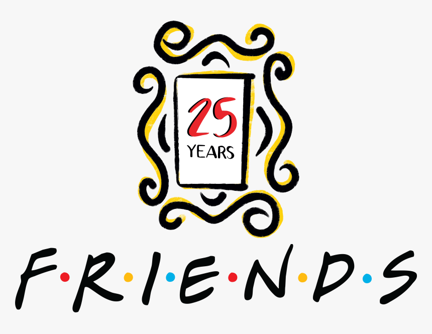 25th anniversary png friends th anniversary logo - friends  years anniversary