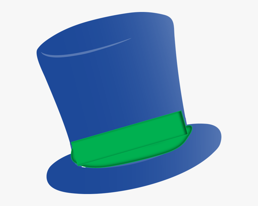 Fedora Clipart Tall Hat Green And Blue Top Hat Hd Png Download