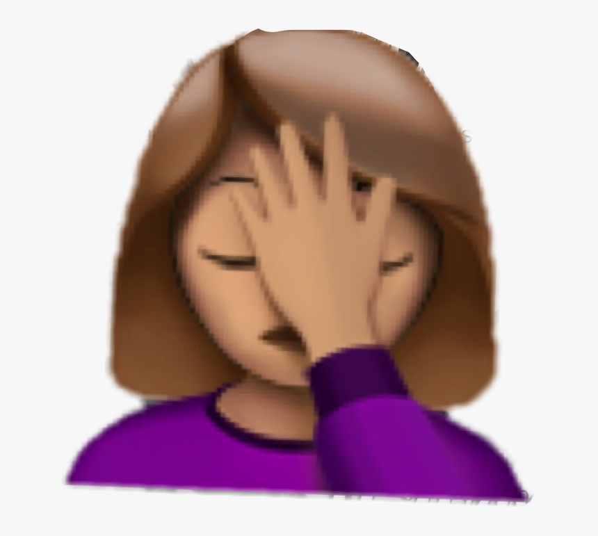 #emoji #facepalm #facepalmemoji #interesting #seriously - Emoji With Hand On Forehead, HD Png Download
