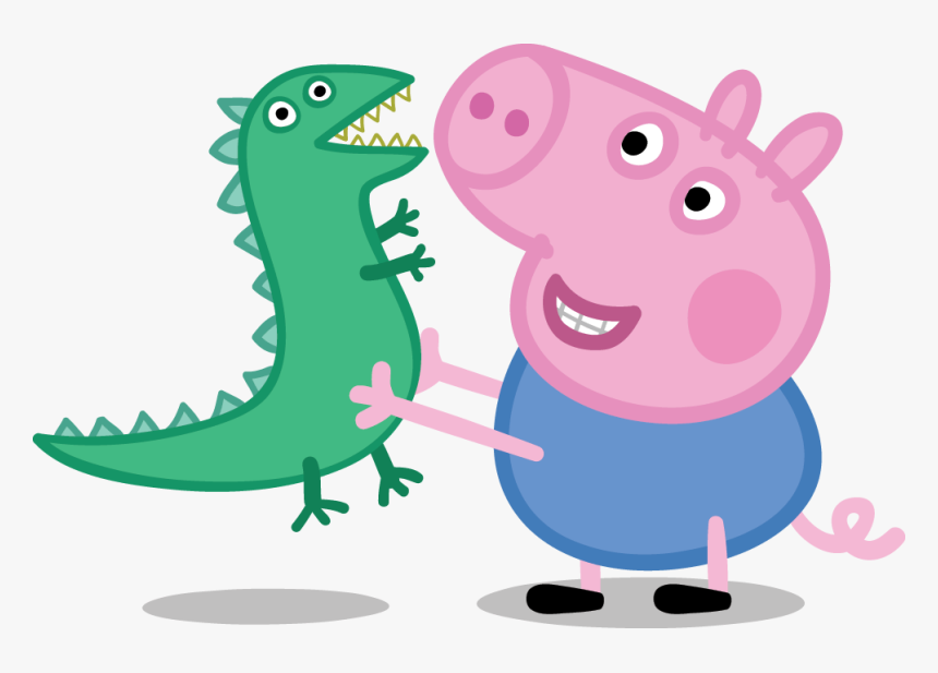 George Playing With Dinosaur George Peppa Pig Png Transparent