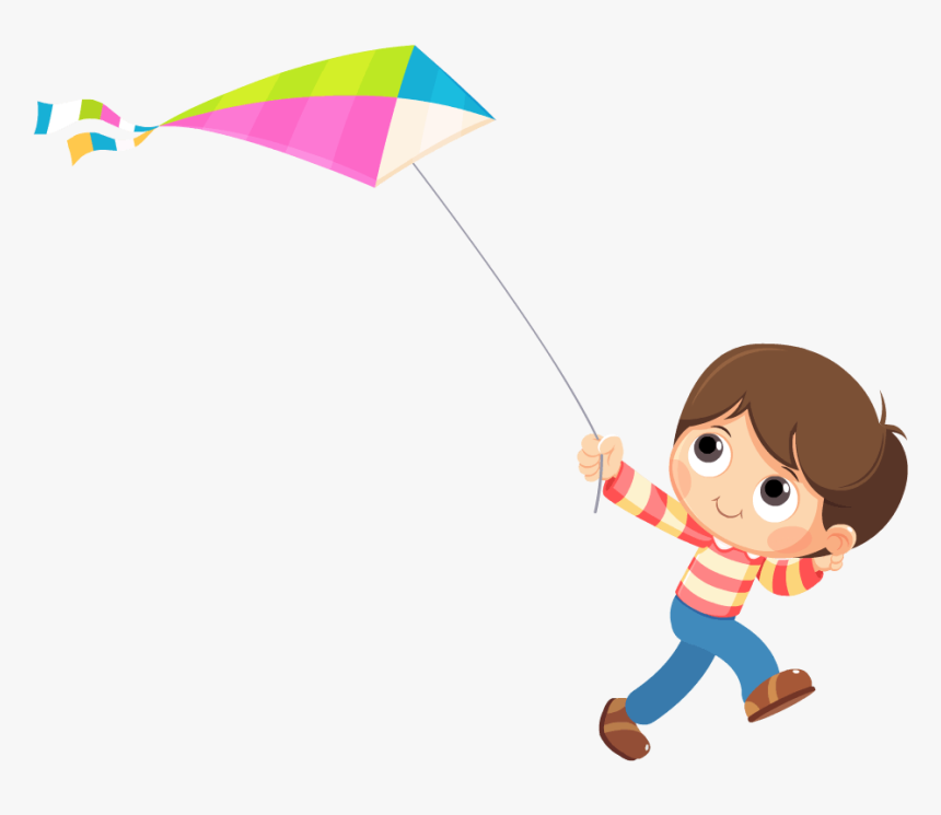 Store Flying A Kite Cartoon Hd Png Download Transparent Png